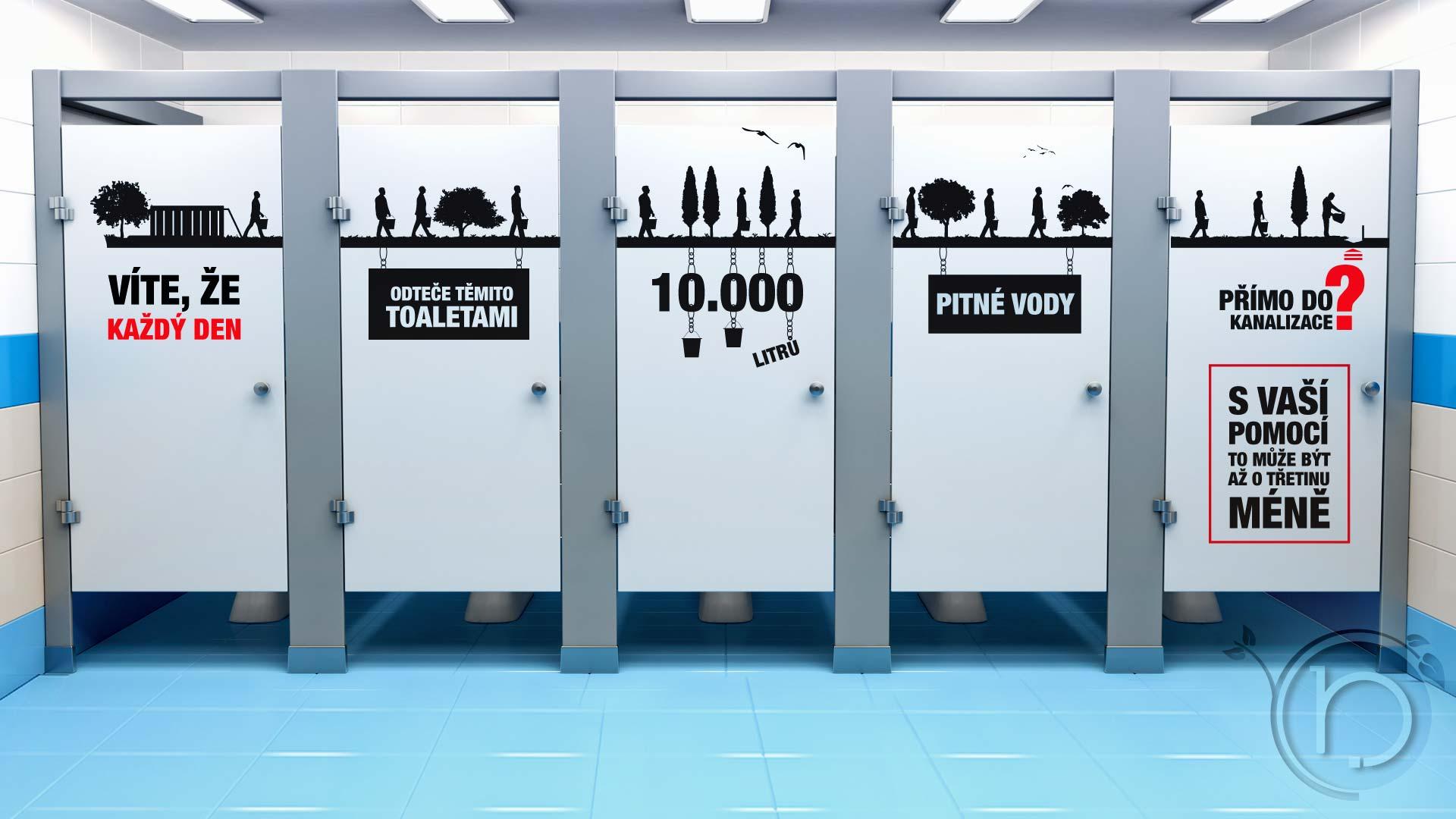 Dekorativní ekologicka samolepka wc